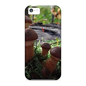 Iphone 5c Hard Back With Bumper Cases Covers Magic Mushrooms