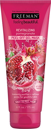Freeman Feeling Beautiful Facial Revealing Peel-off Mask, Pomegranate, 6 Ounce