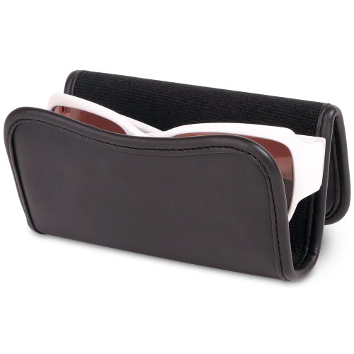 Douglas Car Visor Sunglass and Eyeglass Leatherette Holder Caddy - Easily Attach Sunglasses to Your Car's Sun - Holder Car Sunglasses