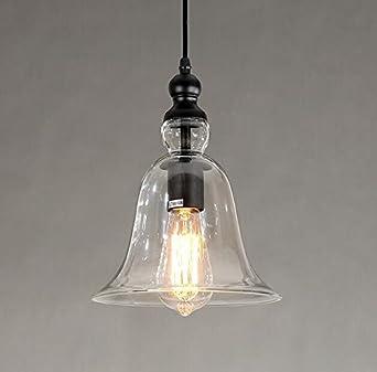 Edle Landhaus Pendelleuchte QuotLiverpoolquot Mit Grossem Glasschirm E27 Fassung Hngelampe Landhausstil Vintage Retro