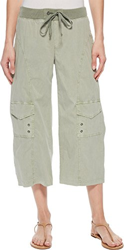 XCVI Women's Sunday Crop Pant Military Olive Pigment Medium (Military Crop)