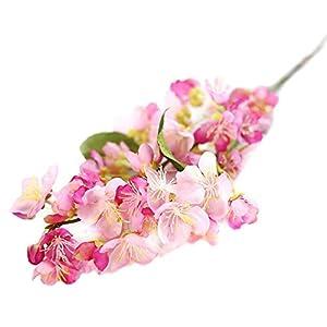 MARJON FlowersArtificial Fake Flowers Leaf Cherry Blossoms Floral Wedding Bouquet Party Decor (Hot Pink) 91