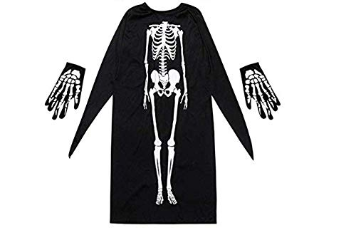 Halloween Ghost Costumes,Mask Gloves Skeleton Costume, Horror Makeup