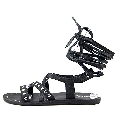 Black Sandal Women's Charles David Steeler by Charles Leather Gladiator qBw600