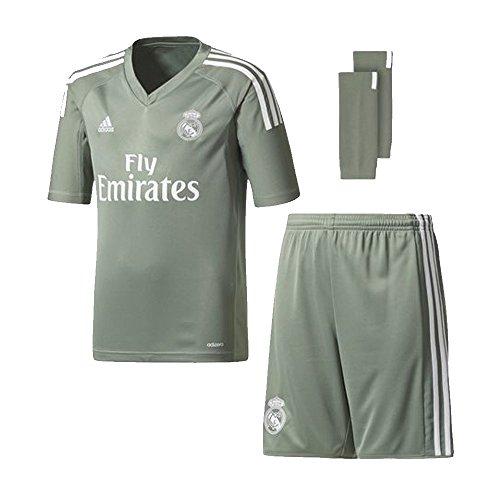 Adidas Goalkeeper Kit (2017-2018 Real Madrid Adidas Home Goalkeeper Full Kit (Kids))