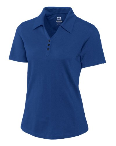 Cutter & Buck Women's Plus Size CB Drytec Championship Polo, Tour Blue, 4X