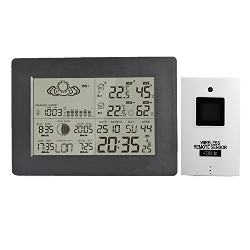 INNI LCD Wireless Weather Station Calendar Clock Thermometer Humidity With Backlight by INNI