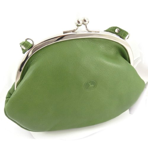 Purse green leather bag 'Frandi' . by Frandi