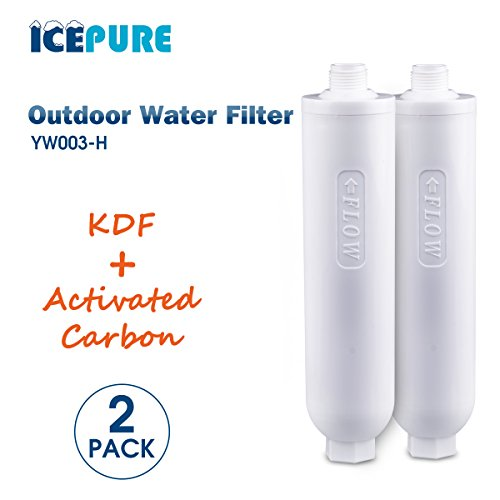 ICEPURE Inline RV KDF Water Filter/replacement RV water filter 2Knapsack