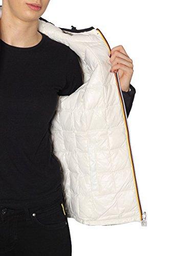 WHITE Giacca K Way Donna K002II0 BLACK SNOW manica lunga x660qw
