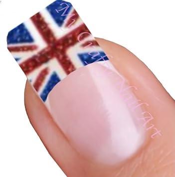 Amazon Union Jack British Flag Adhesive Nail Tips Stickers Art