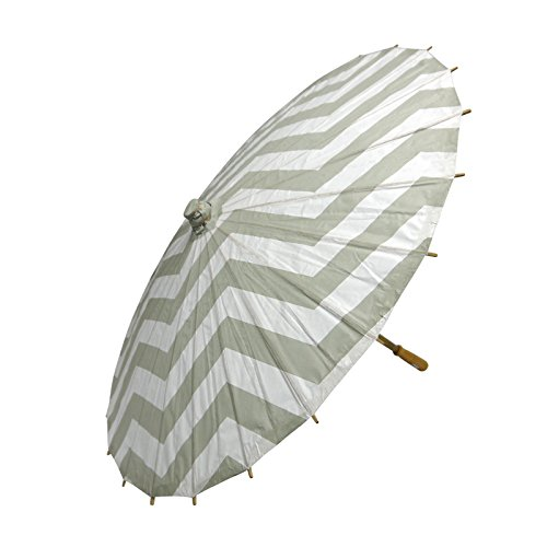 Quasimoon Chevron Parasol Umbrella PaperLanternStore