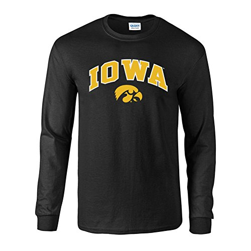 Iowa Ncaa Hawkeyes (Elite Fan Shop NCAA Men's Iowa Hawkeyes Long Sleeve Shirt Team Color Arch Iowa Hawkeyes Black X Large)