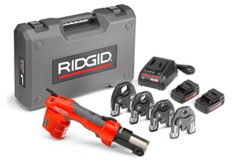 Ridgid Propress Fitting - RIDGID RP 200-B Compact Press Tool Kit 43433 Hydraulic Crimping Tool with ProPress Jaws - PureFlow PEX Compatible (Cordless)