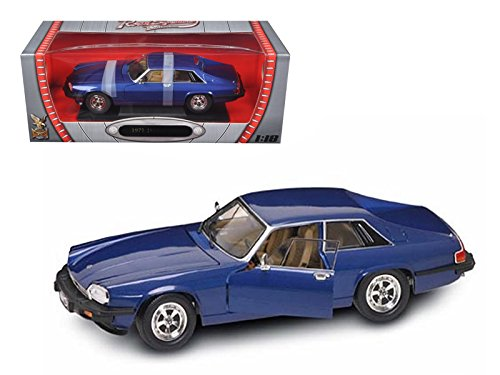 Xjs Models (Road Signature 92658 1975 Jaguar XJS Coupe Blue 1/18 Diecast Model Car)