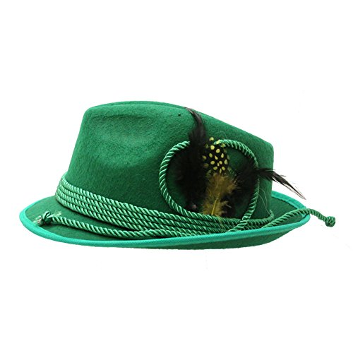 [Green Bavarian Adult Hat] (Oktoberfest Costumes Hat)