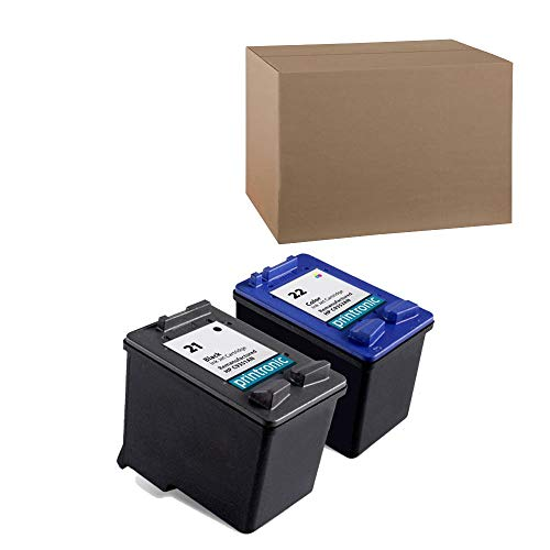 Remanufactured Ink Cartridge Replacement for HP 21 and HP 22 (1 Black 1 Color 2 Pack) ()