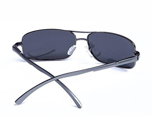 Hommes Sunglasses Gun Polarized Frame Mirror de Driver soleil Couleur Lunettes Gray Small Light Gun gray Lunettes q1gvx0B7