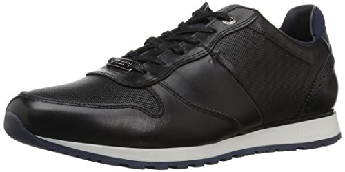 Ted Baker Men's Shindl Sneaker, Black Leather, 11 D(M) US (Leather Ted Sneakers)