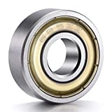 """PAGOW PA00005NB 20-Pack 625ZZ Ball Bearings, Metal Shielded Greased Miniature Deep Groove Ball Bearings (5mm x 16mm x 5mm), 0.75"""" Height, 1.5"""" Width, 2"""" Length, 0.19 Carbon Steel (Pack of 20)"""