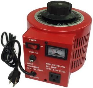 10 Amp Variac Variable Transformer, 1000va Max, 0~130 Volt Output 41xkJGA7QbL