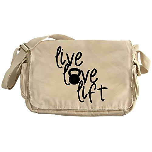 CafePress - Live, Love, Lift - Unique Messenger Bag, Canvas Courier Bag