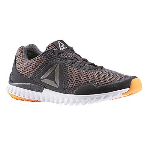 Reebok Men's Twistform Blaze 3.0 MTM Running Shoe, Ash Grey/Coal/Wild Orange/White/Pewter, 13 M US