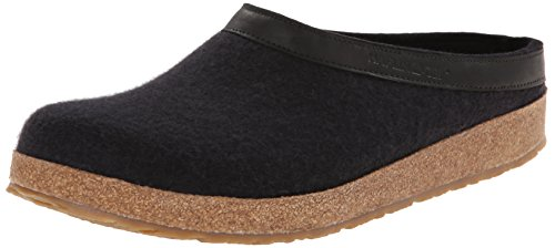 Haflinger GZL Clog,Black,40 EU/Women's 9 M US/Men's 7 M US