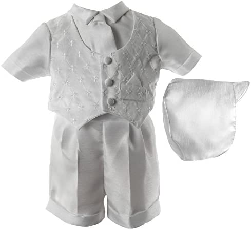 DETALLAN Kid Baby Boy Gentry Bow Clothes Outfits Set Formal Party Christening Wedding Tuxedo Jumpsuit Gray
