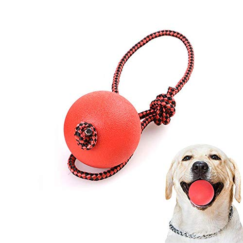 Undestructable Dog Ball, Aolvo Funny Pet Toys Solid Rubber B
