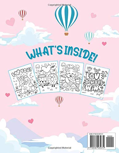 Love is in the Air: Valentine Coloring Book for Kids, Teens and The Whole Family - a Collection of Fun and Cute Valentine Coloring Pages to Celebrate Love During Valentine's Day