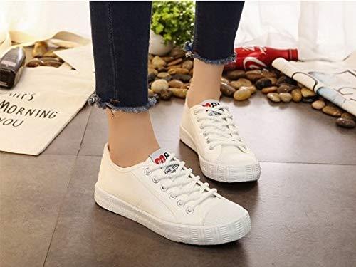 YSFU Sneaker Frauen Frühling Sneakers Herbst Frühling Frauen Schuhe Sportschuhe Volltonfarbe Nähen Erwachsenen Leinwand Schuhe Frauen Stoff Atmungsaktiv Dämpfung Leicht - 3cb9de