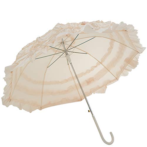 Outdoor Wedding Parasol Bridal Shower Elegant Laciness Umbrella Photograph Costume Accessory (Parasol Deluxe Lace)