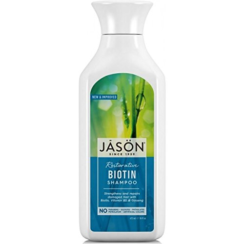 Jason Restorative Biotin Pure Natural Shampoo (473ml, No Parabens) by Jason Natural ()