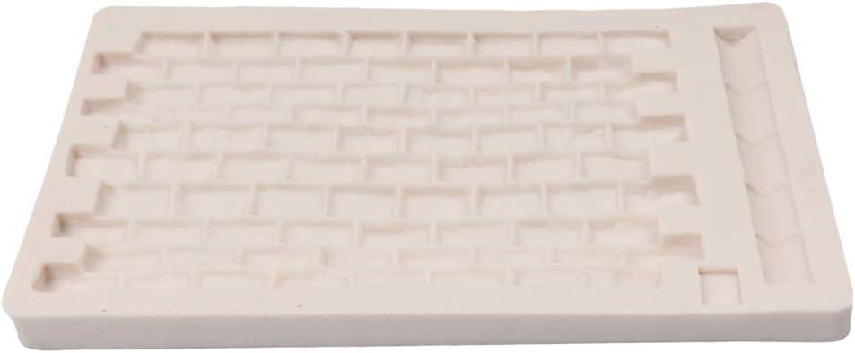 BESTonZON Ziegelstein Silikon Fondant Form Kuchenformen Hitzebest/ändige f/ür EIS Schokolade Cupcakes DIY