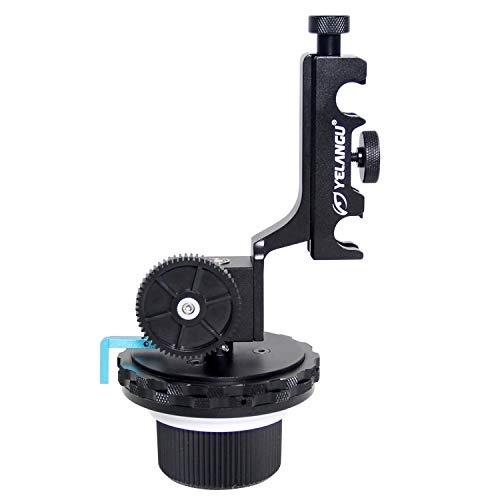 Dig dog bone YLG0103D F4 Limit Follow Focus with Adjustable Gear Ring Belt Compatible Canon/Nikon/Video Cameras/DSLR Cameras