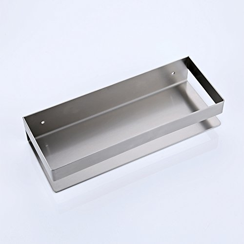 Kes Bathroom Shelf Stainless Steel Bath Shower Shelf Basket Caddy RUSTPROOF Square Modern Style Wall Mounted Brushed Finish, BSC205S30A-2 by Kes (Image #2)