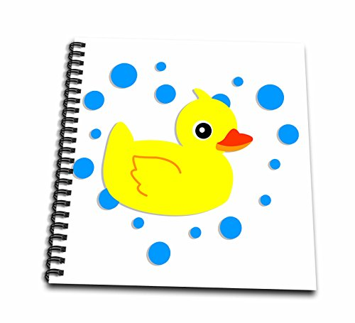 3dRose db_12126_2 Cute Baby Ducky Yellow Ducky Memory Book, 12 by 12-Inch
