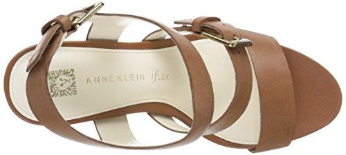 Anne Klein onmymind vestido sandalias de la mujer Coñac