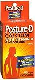 Posture-D Calcium with Vitamin D & Magnesium Caplets – 60 ct, Pack of 3