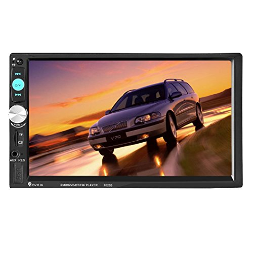 USSay ETohio Bluetooth Car Stereo Audio In-Dash Aux Input Receiver SD/USB MP5 Player (Car Cd Player With Gps Cheap)