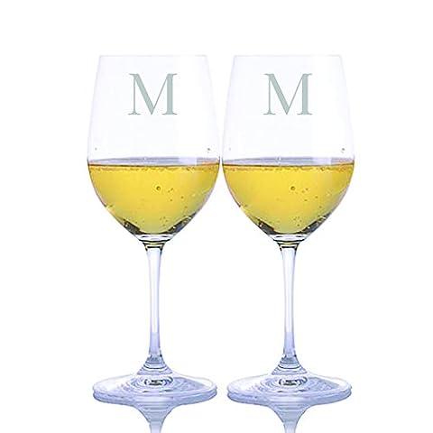 Custom Crystal Vinum Chardonnay Glass 2pc. Set by Riedel Engraved & Monogrammed - Custom Crystal