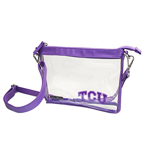 Capri Designs Clear Small Crossbody NFL Stadium Approved - Texas Christian University Horned Frogs - Classic Accents Friendly Frogs