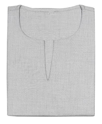 La mode des hommes de coton kurta base manches longues t-shirt vêtements indien