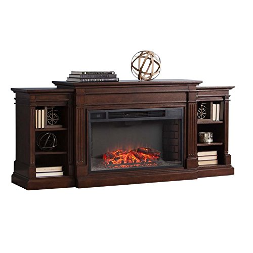 BOWERY HILL Electric Fireplace TV Stand in Espresso (Hill Fireplace Electric)