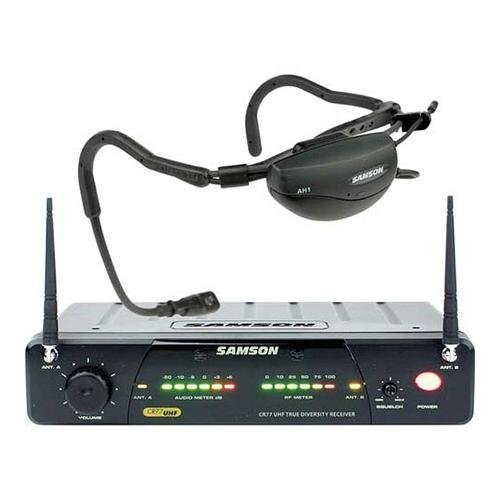 Samson AirLine 77 Fitness Head Worn Wireless Microphone System, Frequency N1 - 642.375 MHz - Wireless Uhf Headset System 77