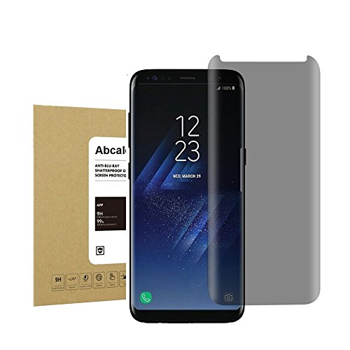 For Galaxy S8 Privacy Anti-Spy Screen Protector, Abcalet [Bubble-Free][Anti-Scratch] Premium Tempered Glass Screen Protector for Samsung Galaxy S8 Black