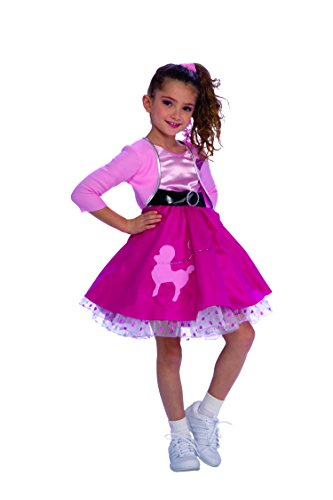 [Rubie's Fifties Girl Child's Costume, Small] (Halloween Costumes For 4 People)