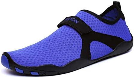 カップルビーチダイビング速乾性水泳シューズ、アウトドアロートップメッシュアップストリームシューズ男性と女性滑り止め軽量ウェーディングシューズUS5-US10.5パープル ポータブル (色 : Purple, Size : US7)
