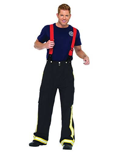 Mens Fireman Costume Fire Fighter Couples Costume Idea Sizes: Medium-Large (Ideas For Couple Halloween Costumes)